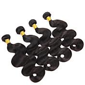 Cabello humano Cabello Brasileño Tejidos Humanos Cabello Ondulado Extensiones de cabello 4 Piezas Negro