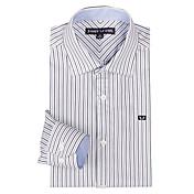 JamesEarl 男性 シャツカラー ロング シャツ&ブラウス 黒フェード - DA162008226