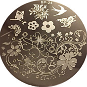 かなりbp24生まれた魅力的な春ネイルアートスタンプテンプレート画像プレート爪スタンピングプレート