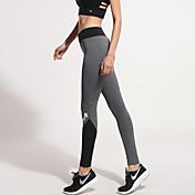 Mujer Pantalones de Running Secado rápido Transpirable Compresión Reductor del Sudor Elástico Medias/Mallas Largas Prendas de abajo para