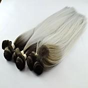 venta caliente T1b onda del yaki sintético / pelo de plata teje la extensión del pelo
