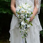 Svatební kytice bez formy kaskády Růže Kytice Svatba Párty / večerní akce Satén Hedvábí