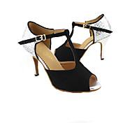Zapatos de baile (Negro/Azul/Rojo) - Danza latina/Salón de Baile - Personalizados - Tacón Personalizado