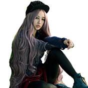 Mujer Pelucas sintéticas Sin Tapa Ondulado Morado peluca de vestuario Las pelucas del traje