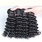 10-30inch 4 pedazos 400g cabello rizado profundo malasio pelo virginal malasio del 100%