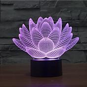 lotus flower dodir zatamnjenje 3d vodio noćno svjetlo 7colorful ukras atmosfera svjetiljka Novost rasvjeta božićna svjetla