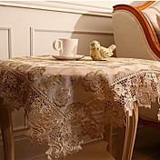 Quadrada Sólido Floral Toalhas de Mesa , Poliéster Material