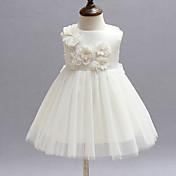 赤ちゃん パーティー フラワー ポリエステル,ドレス オールシーズン レッド / ホワイト