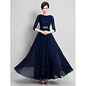 Lanting Bride® A-kroj Haljina za majku mladenke Do poda Šifon / Čipka - Kristalni detalji / Čipka / Traka / vrpca