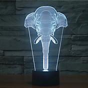 slon touch stmívání 3d vedl noční světlo 7colorful dekorace atmosféra lampa novinkou osvětlení vánoční světlo