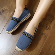 MujerConfort-Zapatos de taco bajo y Slip-Ons-Casual-Tejido-Azul / Rosa