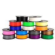 Anet filamento impresora pla 1,75 mm / 3 mm para la impresión 3d 3d (1pcs, colores aleatorios)