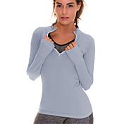 Yoga Camiseta Camisas Tops Secado rápido Transpirable Cómodo Sin costura Suave Alta elasticidad Ropa deportivaCamping y senderismo