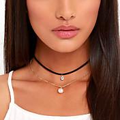Mujer Gargantillas tatuaje Gargantilla Forma de Círculo Perla Tejido Diamante Sintético Diseño Básico Tatuaje Europeo Moda Personalizado