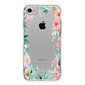 For iPhone 7 etui / iPhone 7 Plus etui / iPhone 6 etui Mønster Etui Bagcover Etui Blomst Blødt TPU for AppleiPhone 7 Plus / iPhone 7 /