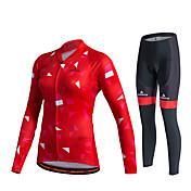 Miloto Maillot de Ciclismo con Mallas Mujer Unisex Manga Larga Bicicleta Pantalones/Sobrepantalón Chándal Camiseta/Maillot Medias/Mallas