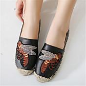 Mujer-Tacón Plano-Bailarinas-Zapatos de taco bajo y Slip-Ons-Casual-Microfibra-Negro