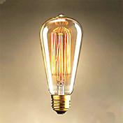 販売エジソンアート装飾ライト用の25ワットエジソンST64直線ワイヤ電球
