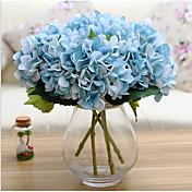 1 1 Afdeling Polyester Hortensiaer Bordblomst Kunstige blomster 17*5.9