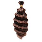 100g / pc onda profunda 10-18inch color # p4 / 30 el pelo humano castaño del pelo del pelo teje