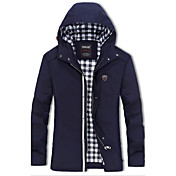 Muži Jednobarevné Běžné/Denní / Velké velikosti / Jdeme ven Jednoduché / Aktivní Kabát-Bavlna / Akryl Podzim / Zima Košilový límecDlouhý