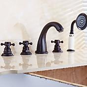 antički rimski slap kadu s keramičkim ventilom dvije ručke pet rupa za naftom utrljava bronce, kada je slavina