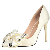 女性-ドレスシューズ パーティー-レザー-スティレットヒール-コンフォートシューズ クラブシューズ 靴を点灯-ヒール-ブラック ピンク パープル レッド ホワイト グレイ