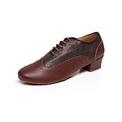 Zapatos de baile(Negro / Marrón / Rojo) -Latino-Personalizables-Tacón Bajo