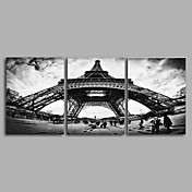 キャンバス地プリント / アンフレームキャンバスプリント 風景 リアリズム,3枚 キャンバス 縦長 版画 壁の装飾 For ホームデコレーション