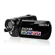 RICH Plástico Videocámara 720P / 1080P Negro