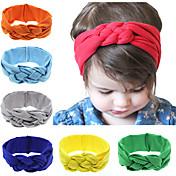 12色/設定魅惑的な赤ちゃんの結び目ヘッドバンドの赤ちゃんの女の子のheadwrapsのターバンは綿がヘッドバンドを結ばカチューシャ