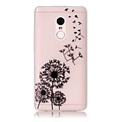 For xiaomi redmi note 4 pro resplandor en el caso translúcido oscuro de la contraportada del caso dandelion suave tpu