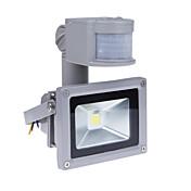 10ワットモーションセンサーはPIRの800lm極度の明るい屋外の防犯ライト85V-265V防水洪水器具3200K温白色投光照明と洪水の光を主導しました