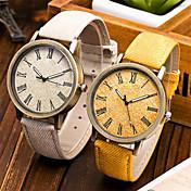 Unissex Relógio de Moda Relógio de Pulso Quartzo PU Banda Legal Preta Marron Vermelho Verde Azul Rosa claro
