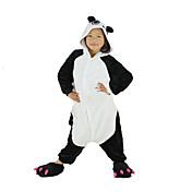 Kigurumi Pyjamas New Cosplay® Panda Trikot/Heldragtskostumer Festival/Højtider Nattøj Med Dyr Halloween Sort Patchwork Kigurumi Til Barn