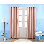 Un Panel Ventana Tratamiento Modern , Un Color Sala de estar Mezcla de Poliéster y Algodón Material Blackout cortinas cortinasDecoración
