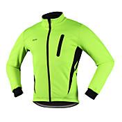Arsuxeo Chaqueta de Ciclismo Hombre Bicicleta Chaqueta de Invierno Top Mantiene abrigado Resistente al Viento Diseño Anatómico Cremallera