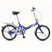 Bicicletas plegables Ciclismo 7 Velocidad 20 pulgadas De las mujeres / Unisex / Hombre Freno en V Ordinario Doblez Ordinario AceroRojo /