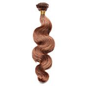 100g / ks tělové vlny lidské vlasy 10-18inch střední guma lidské vlasy splétá