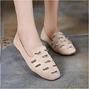 MujerConfort-Zapatos de taco bajo y Slip-Ons-Casual-PU-Negro / Caqui