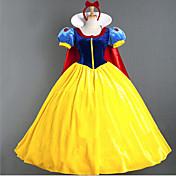 Cosplay Kostumer Festkostume Prinsesse Eventyr Festival/Højtider Halloween Kostumer Blå+Gul Patchwork Sløjfeknude Kjole Halloween Karneval