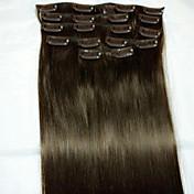 8pcs / set 24 # 2 Remy tipo de extensión extensiones de cabello humano del pelo extensiones de cabello humano
