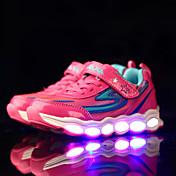 Para Niña-Tacón Plano-Confort Light Up Zapatos-Zapatillas de deporte-Deporte-PU-Negro Rosa Azul Real