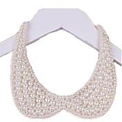 Mujer Collar Perla Forma de Círculo Joyas Perla Tejido joyería de disfraz Hecho a mano Elegant Joyas Para Boda Fiesta Cumpleaños Diario