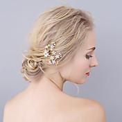 成人用 ラインストーン 合金 人造真珠 かぶと-結婚式 パーティー ヘアピン 1個