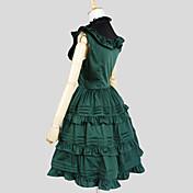 Una Sola Pieza/Vestidos Amaloli Elegant Cosplay Vestido  de Lolita Un Color Sin Mangas Longitud Larga Vestido por Algodón