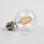 E26/E27 Bombillas LED de Globo G80 8 COB 800 lm Blanco Cálido Regulable AC 100-240 AC 110-130 V 1 pieza