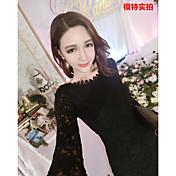 * La versión coreana de la falda de la espina de pescado delgada era la cadera delgada atractiva vestido de encaje de vestir paquete de