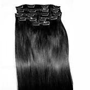 8pcs / set 24 # 1 Remy tipo de extensión extensiones de cabello humano del pelo extensiones de cabello humano