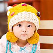 女性 帽子&キャップ,ニット 冬 レッド イエロー